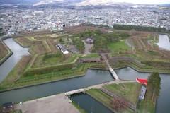 五稜郭タワー展望台から.JPG