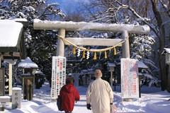 新琴似神社参道入り口