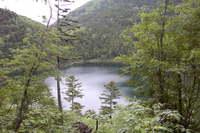 駒止湖(然別湖側)