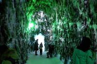 支笏湖氷濤まつり苔の洞門