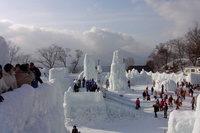氷涛祭り全景
