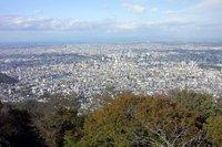 藻岩山から札幌市内