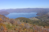 有珠山頂から洞爺湖