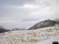 冬の屈斜路湖