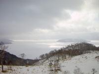 藻琴山すそから屈斜路湖
